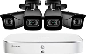 Lorex 8 channel N841A82 4K home security system with 4 8MP 4K LNB8921B Bullet Cameras - 4KHDIP84N