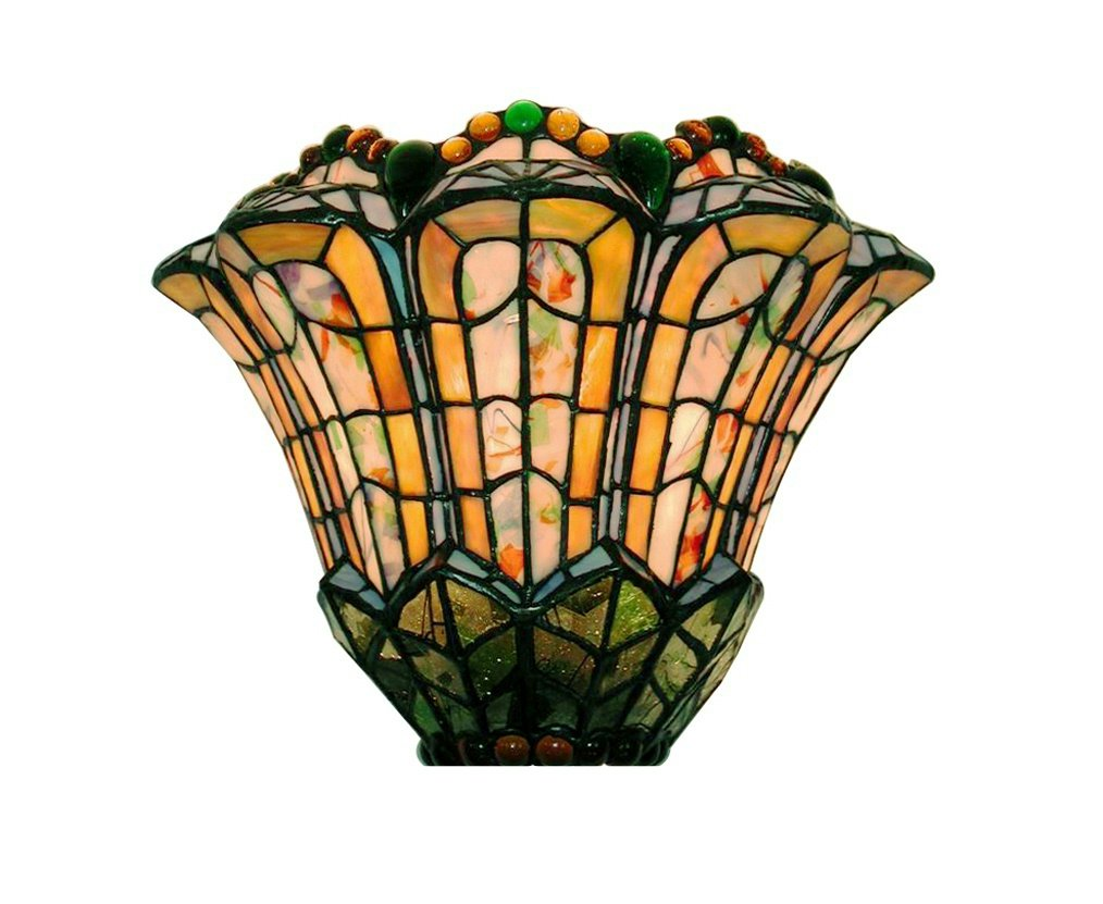 sconce all wall things park innovative oak stained glass sconces light tiffany