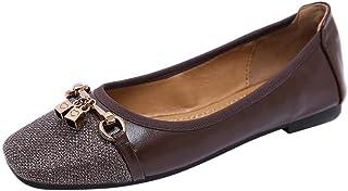 Chaussures ADESHOP Mode Chaussures Simples pour Femmes à La Mode De La Bouche Peu Profonde Confortable AntidéRapant Les Loisirs Travail Voyage Un Pied Chaussures Paresseux Chaussures Quatre Saisons