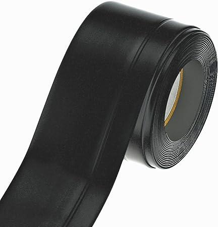 Mako Plinthe Barre De Seuil Souple Autocollante En Rouleau Noir 45 X 15 Mm 5 M Amazon Fr Bricolage