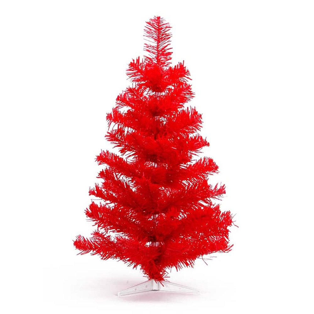 Hab & Gut (XM111 Artificial Christmas tree/coloured fir red - Height: 11,81 inch - 30 cm