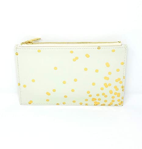 best sneakers fd08a 27be3 Amazon.com : Kate Spade Confetti Dot Pencil Pouch, Cream/Gold ...