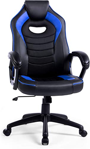 Office Chair Gaming Chair,LIANFENG Racing Style High Back Leather Gaming Office Chair - a good cheap computer gaming chair
