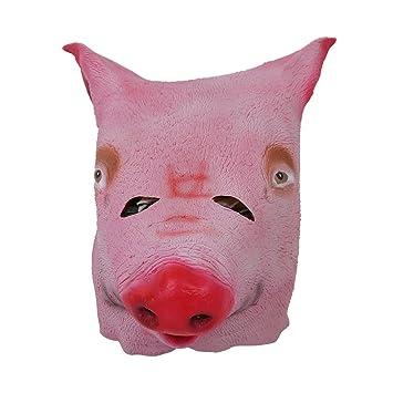 Mascara de cabeza de cerdo - TOOGOO(R)Mascara de cabeza de cerdo de