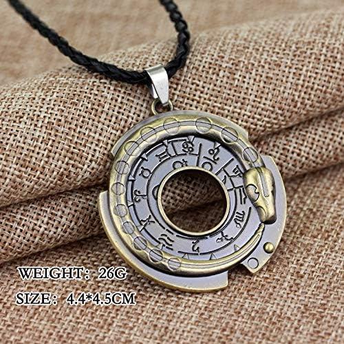 Antique m/étal Alliage Assassins Creed Ezio Cosplay Pendentif Collier pour Hommes Femmes Connor amulette Colliers A485