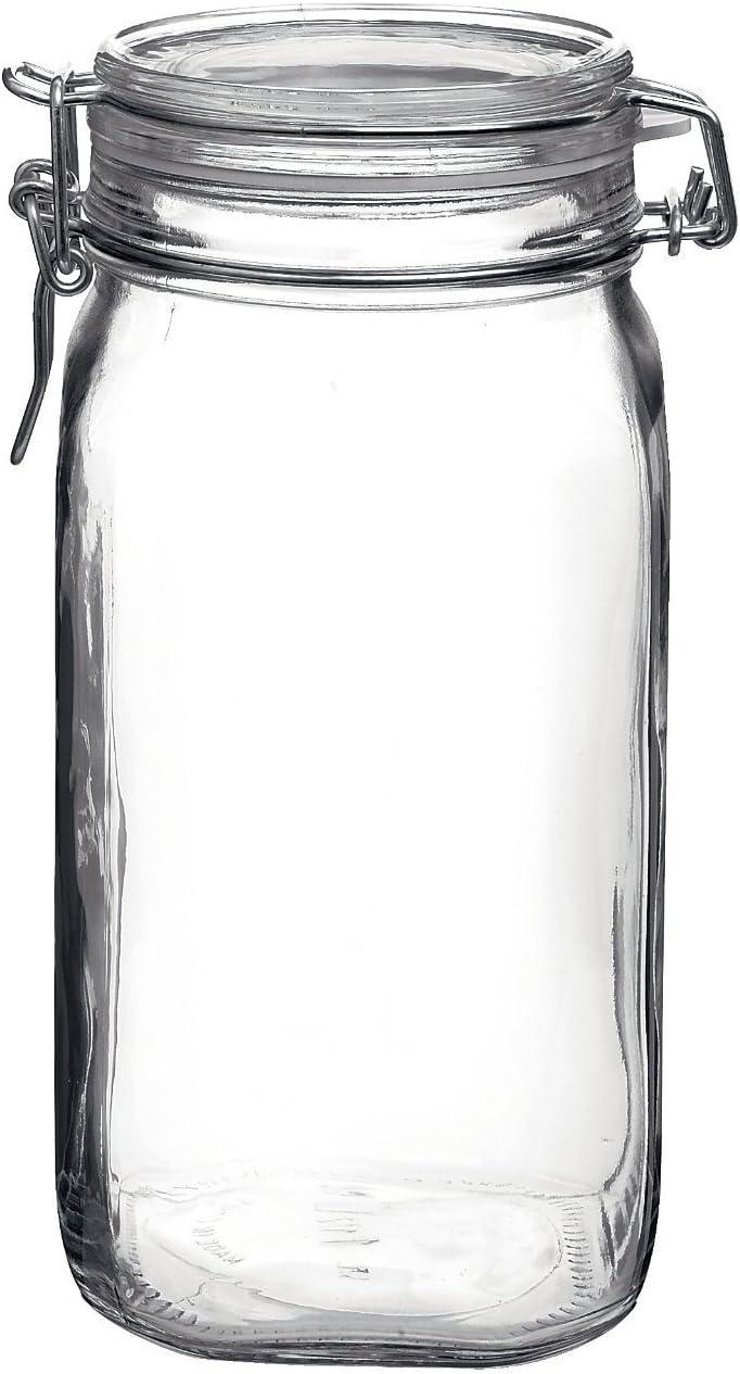 Bormioli Rocco Fido Clear Glass Jar with 85 mm Gasket, 1.5 Liter KC74556