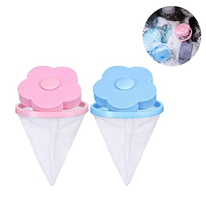 Washing Machine Floating Lint Mess Bag Loose Hair Filter VANUODA Pet Hair Remover for Laundry Reusable Filter Net Pouch 2 Pcs Dog Fur Remover