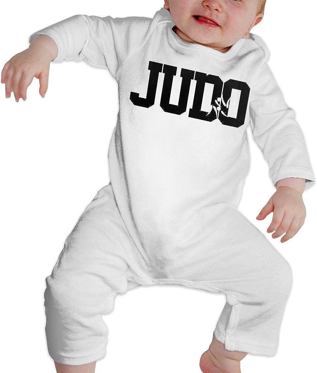WlQshop Tute da Bambino,Body Bimbo Bimba Judo Letter Newborn Kids Long Sleeve Gentleman Bodysuit
