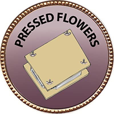 Keepsake Awards Pressed Flowers Award, 1 inch Dia Gold Pin Creative Arts and Hobbies Collection: Toys & Games