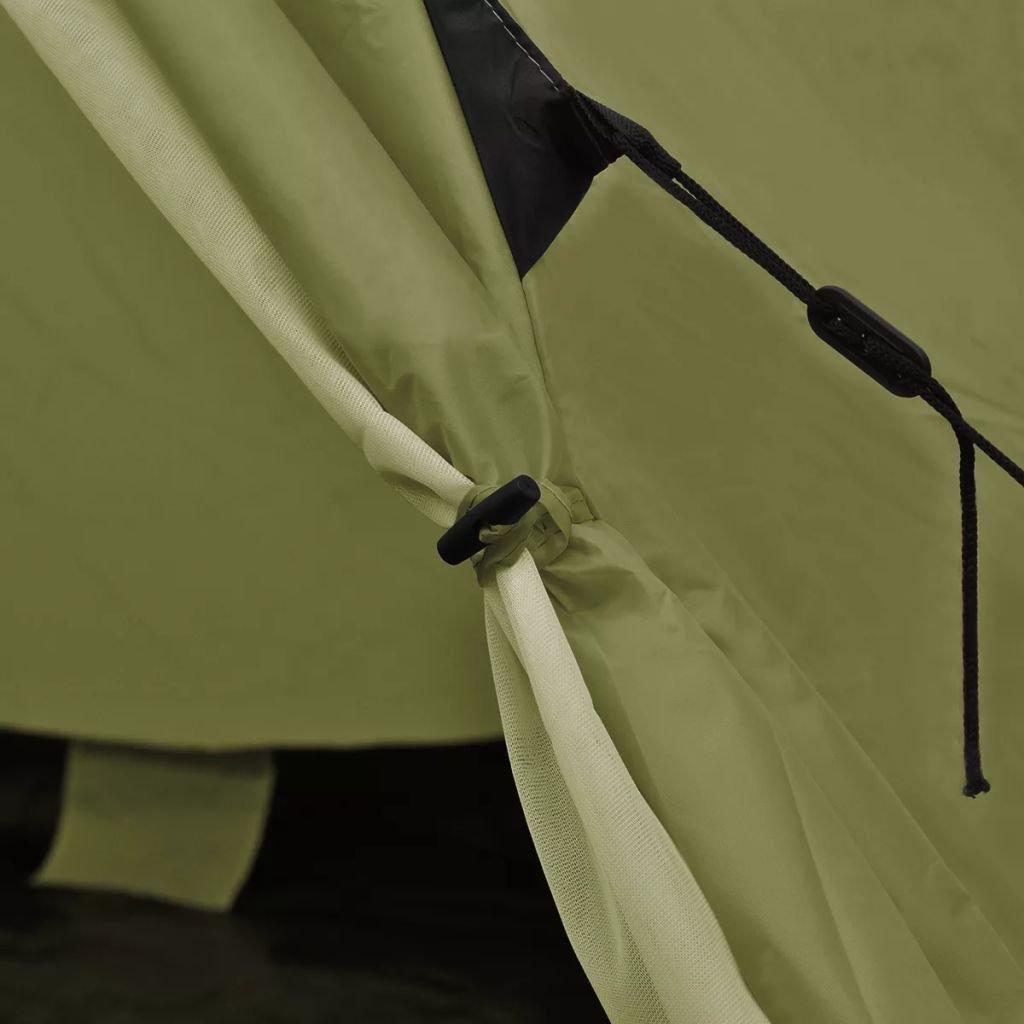 4-Personen Familienzelt Campingzelt Zelt Wasserfeste Festnight 2 Fenster Gr/ün//Gelb