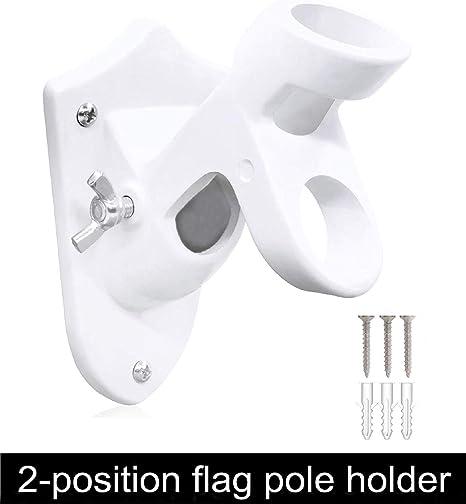 """Black Flag Pole Bracket 2-Position Flag Pole Holder Bracket Cast 1/"""" Inch Holder"""