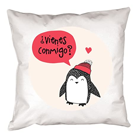 Calledelregalo Cojín personalizado pingüino - Regalo ...