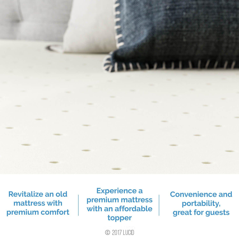 Amazon LUCID 4 Inch Memory Foam Mattress Topper 3 Year