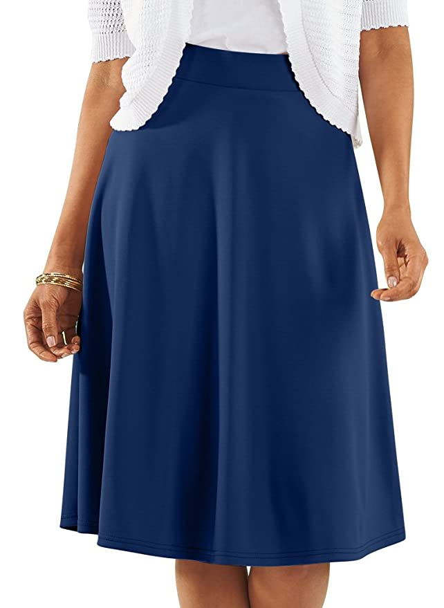1940s Style Skirts- Vintage High Waisted Skirts Knit Circle Skirt $24.99 AT vintagedancer.com