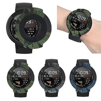 Cinhent Funda Protectora de Reloj de TPU Suave Modelo de Camuflaje ...