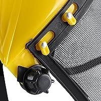 Casco de Seguridad con Visera de Malla de Cara Completa para tala Desbrozadora Protecci/ón Forestal Wytino Casco