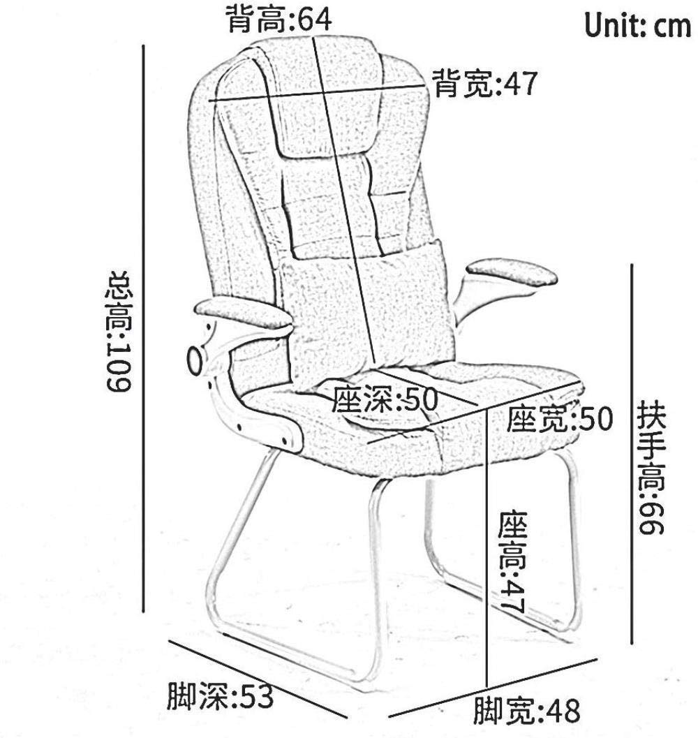 Barstolar Xiuyun hem kontor skrivbordsstol dator stol massage ländrygg kudde hem konferensstol roterande räcke linne tygbord och stol bär vikt 150 kg (färg: svart) Grått