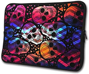 SWEET-YZ Laptop Sleeve Case Aurora Gothic Skull Notebook Computer Cover Bag Compatible 13-15 Inch Laptop