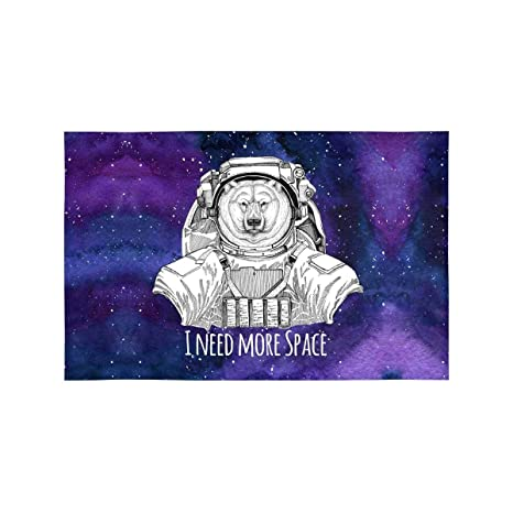 Animal astronauta Oso polar en traje espacial Nebulosa ...