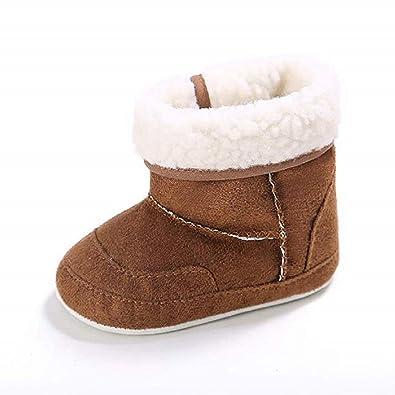 ae8a551a2abd Meckior Infant Baby Girls Boys Winter Snow Boots Warm Fleece Soft Sole  Plush Newborn Crib Shoes