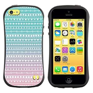 Suave TPU GEL Carcasa Funda Silicona Blando Estuche Caso de protección (para) Apple Iphone 5C / CECELL Phone case / / Teal Pink White Wallpaper /