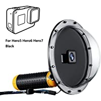 Taisioner 45m Waterproof Dome Port Housing Case with Hand Floating Grip for GoPro Hero 5/6 / 7 Black Underwater Accessories