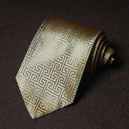 gold yellow 9 5 Men's tie cm business tie Plyhlc formal ties Aw6xaBWpq