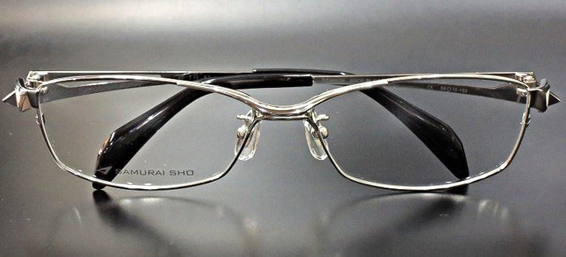 【SAMURAI SHO】サムライ翔 ビジネスライン 智 ss-T33 col.1 メガネ 【正規代理店品】 B078GN4FWY ダミーレンズ(伊達メガネには使用不可能です)入 フレームのみで発送