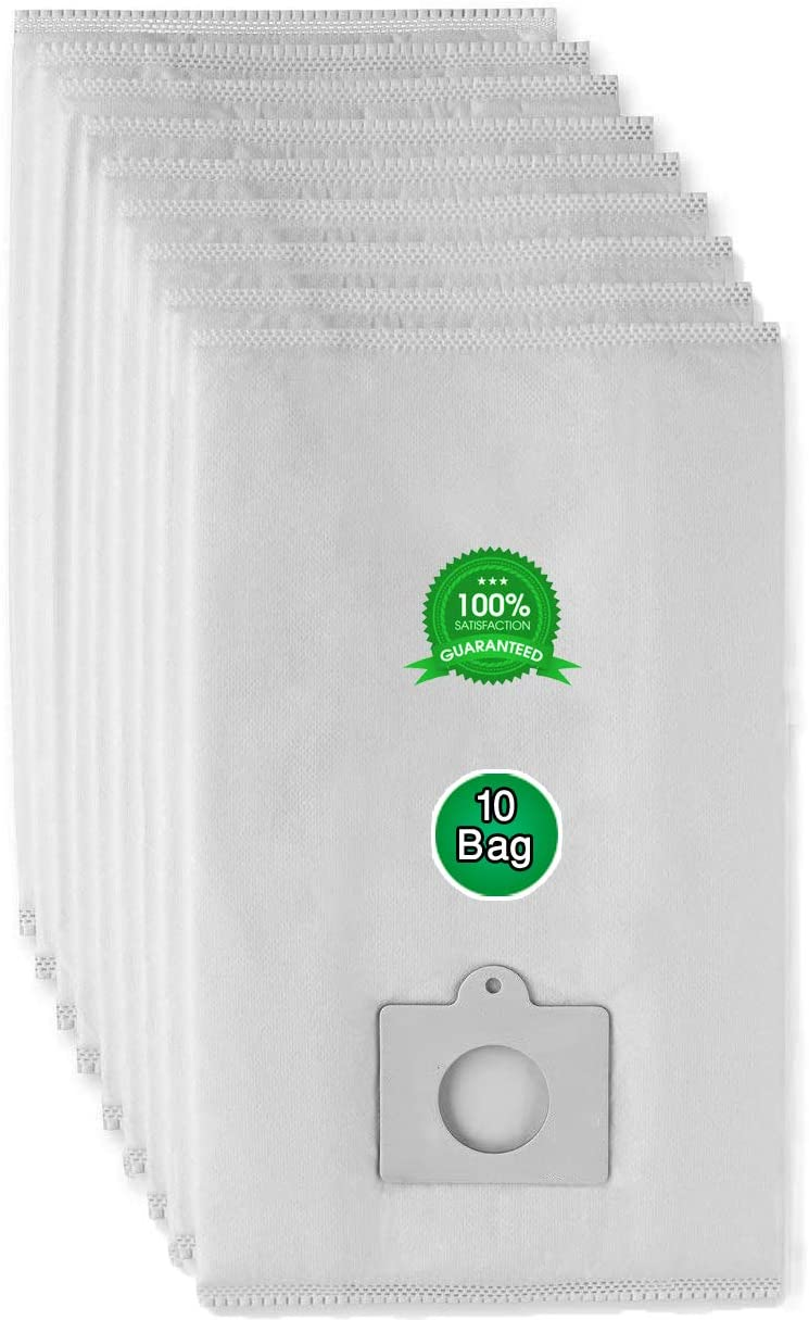 AQUA GREEN Type Q HEPA Cloth Vacuum Bags Compatible with Kenmore Canister Vacuum Cleaners Models Type C, CQ,50558,5055, 50557, (10 Pack)