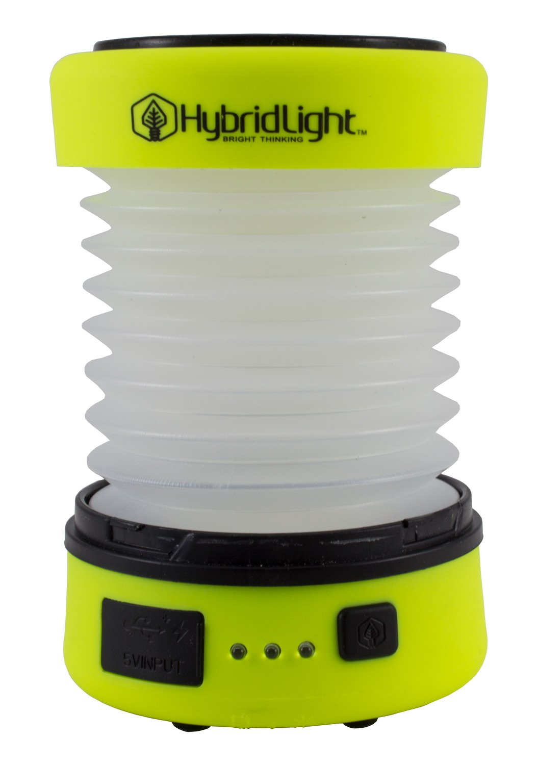 Hybridlight Solar Rechargeable Lantern/Cell Phone Charger. 150 Lm. Built in Solar Panel, Hi-Vis Yellow by Hybridlight