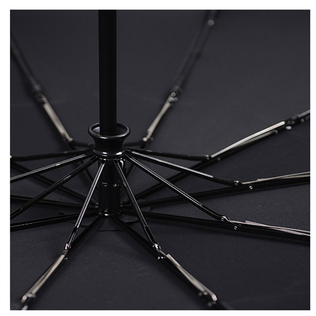 Guoke Fully Automatic Folding Umbrella Men'S Double, The Fine Rain Reinforced With Two Students Umbrellas,125Cm-10- Classic - Black by Guoke (Image #2)