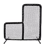 Armor Series Pitching Screen Baseball Net. Voted Best L Screen Pitching Net for Batting Cage and On Field Use. This 7 x 7 Protective Screen is the Perfect Baseball L Screen. BLACK