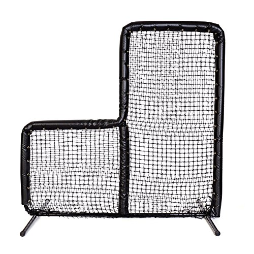Armor Series Pitching Screen Baseball Net. Voted Best L Screen Pitching Net for Batting Cage and On Field Use. This 7 x 7 Protective Screen is the Perfect Baseball L Screen. BLACK by Armor