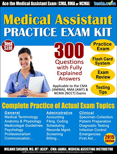 .com: medical assistant practice exam plus online flash card ...