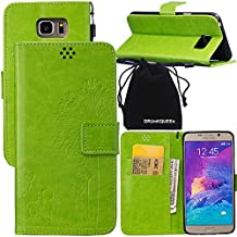 Note 5 Case, Galaxy Note5 Case, DRUnKQUEEn Wallet Case with Cellphone Holder - PU Leather Cover Purse Slim Fit Card Slot for Samsung Galaxy Note5 N920