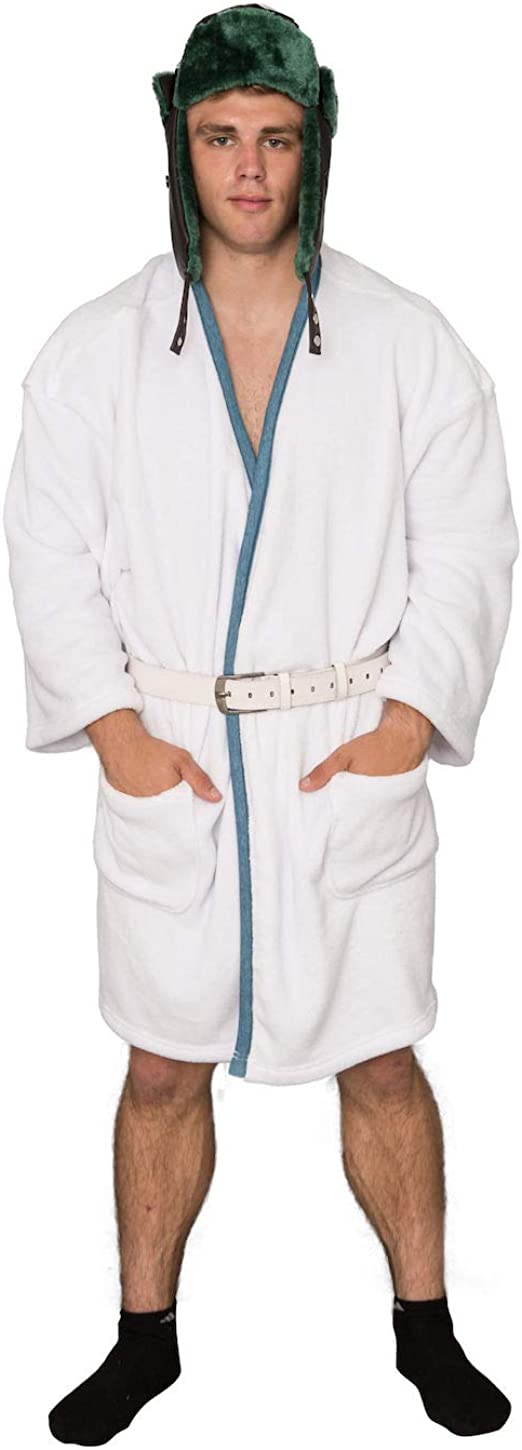 Amazon Com Christmas Vacation Cousin Eddie White Robe And Belt Costume Set Clothing