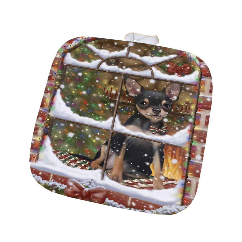Please Come Home For Christmas Chihuahua Dog Sitting In Window Pot Holder POT48383