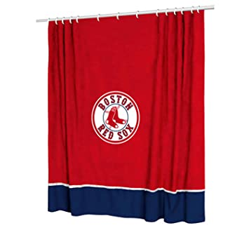Boston Red Sox Shower Curtain Bath Accessories