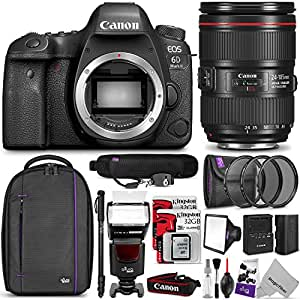 Canon EOS 6D Mark II DSLR Camera with 24-105mm f/4 Lens w/ Complete Photo and Travel Bundle