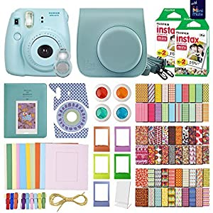 MiniMate Instax Mini 8 Camera with 40 Instax Film and Accessory Bundle