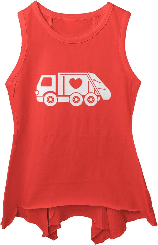 Valentines Garbage Truck Trashman Toddler//Youth Sleeveless Backswing