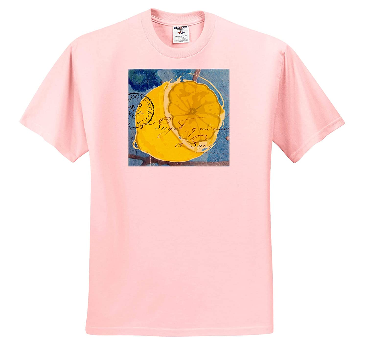 Lemon Mixed Media Collage T-Shirts 3dRose Cassie Peters Mixed Media
