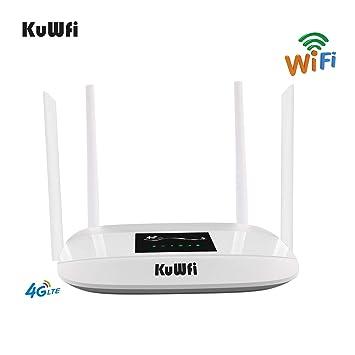 Router 4G LTE, 300Mbps Enrutador inalámbrico 4G CPE desbloqueado ...