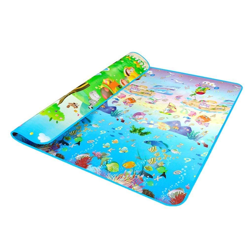 HBlife Kinderspielteppich Spielmatte Spielteppich Schaumstoffmatte Baby Kleinkind Crawl Mat Spielmatte Babyschleichenmatte Picknick-Decke 200 * 180 cm (2)