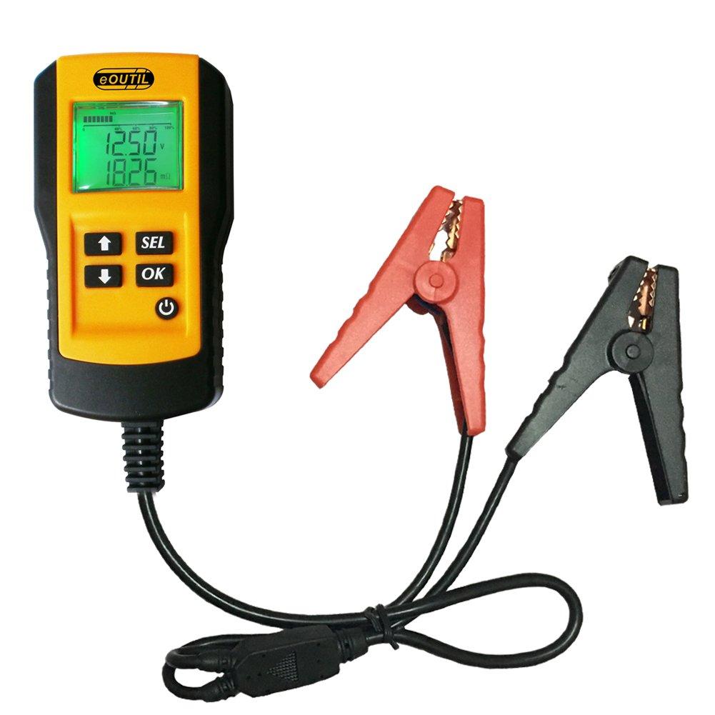 eOUTIL AE300 Digital 12V Car Battery Tester Life Percentage,Voltage, Resistance CCA Value