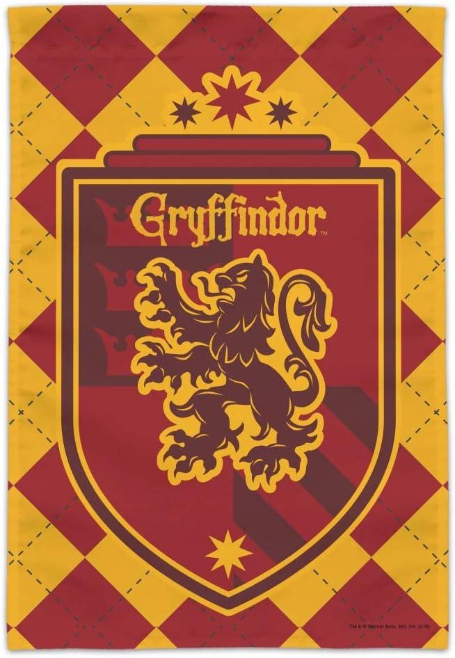 GRAPHICS & MORE Harry Potter Gryffindor Plaid Sigil Garden Yard Flag