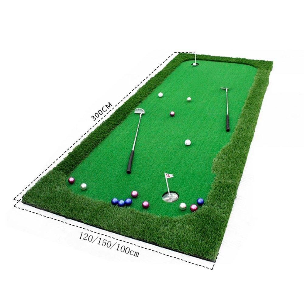 QAR ゴルフインドア練習マット パター練習マット 3サイズ オプションゴルフマット 1m×3m 014 1m×3m  B07H9WFSK9