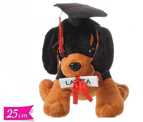 Peluche Laurea CAGNOLINO con Cappello Tocco Laureato 25 cm Pupazzo cane con  Occhioni 453779bc0449