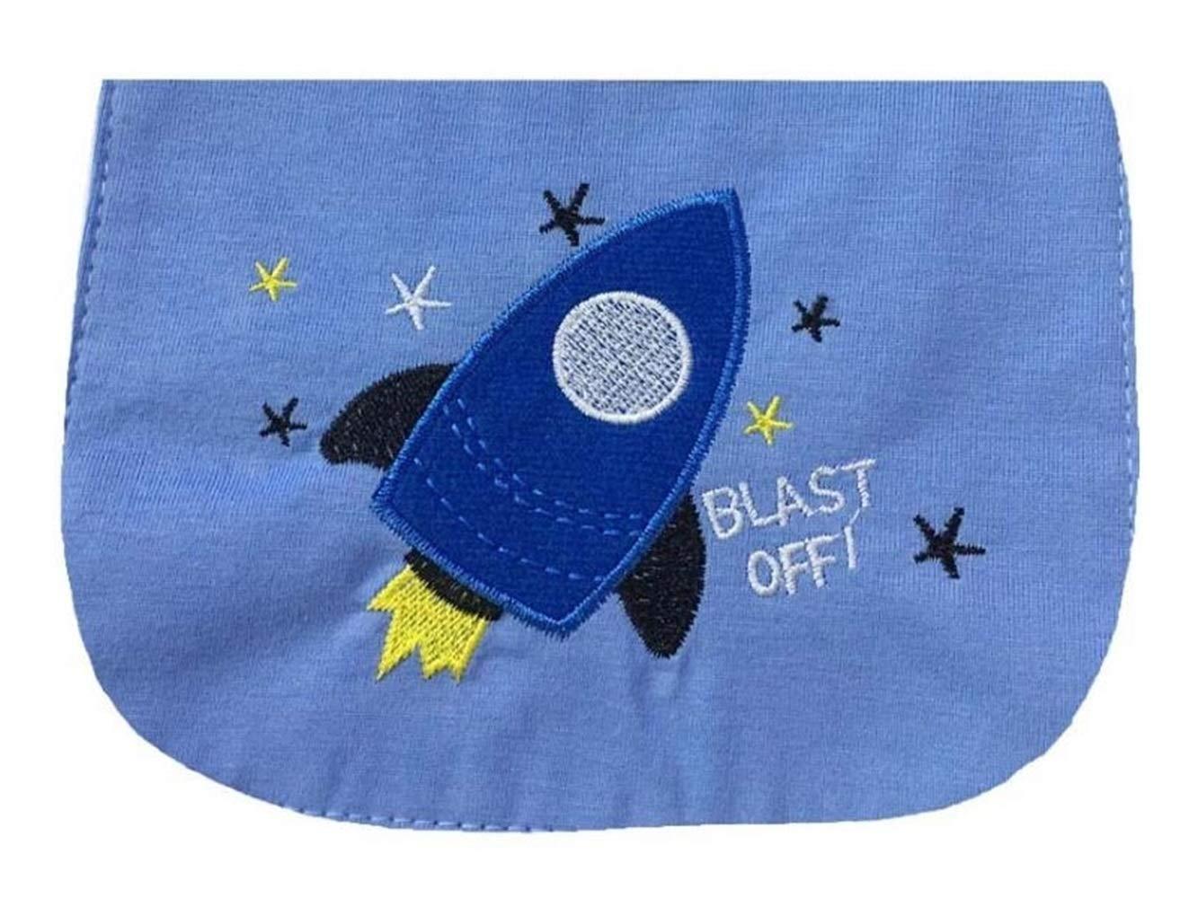 HGJNGHBNG Baño de bebe Rocket bordado sudor absorbente toalla gasa sudor absorbente toalla para niños: Amazon.es: Bebé