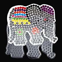 HuaYang Popular DIY BEADS+ Ironing Paper Plastic Elephant Animal PEGBOARD Template